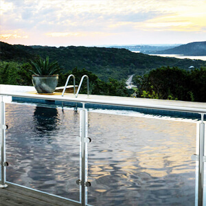 glass fences for swimming pools - we supply these across the UK
