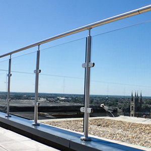 post & rail glass balustrade by origin