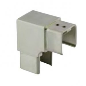 Vertical 90° Elbow for Slotted Tube 40 x 40mm