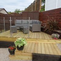 decked area glass balustrade